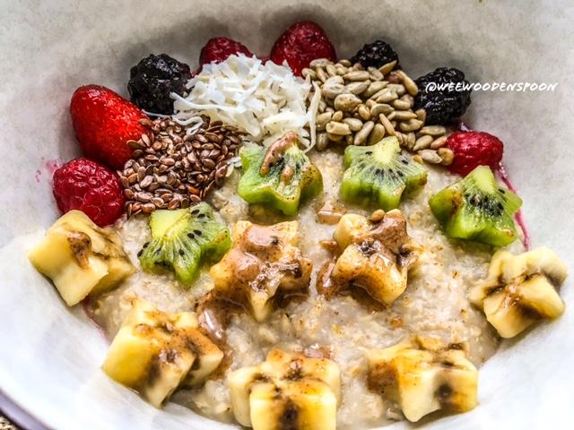 Fruit star oat bowl
